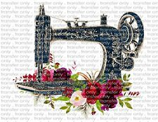Vintage Sewing Machine Waterslide Decals for Tumblers & Furniture - Permanent