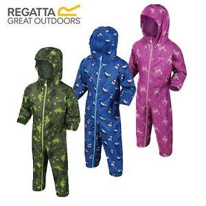 Regatta Pobble Puddle Kids Boys Girls Waterproof All In One Rain Suit RRP £50