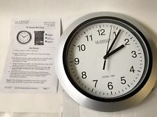 "WT-3102S La Crosse Technology 10"" Atomic Analog Wall Clock Silver - Used"
