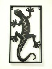 "Traditional Wrought Iron Gecko Wall Décor ( 11.5"" W x 21"" L)"