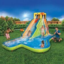 New Banzai Slide N Soak Splash Park Inflatable Outdoor Kids Water Park w/PUMP