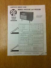 PYE PE333RG and PE335RG Radiogram  Service Sheet - Vintage Radiogram