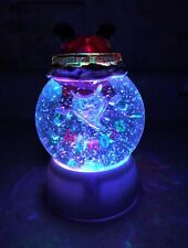 "Santa Claus Stuck In snow globe glitter Swirling Water Lighted 6"" Led Christmas"