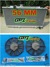 56MM HI-FLOW RADIATOR +FAN TOYOTA CELICA GT4 ST185 ALL-TRAC 1989-1993
