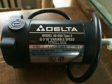 "NOS Delta 40-650 Type 2 Q-3 18"" Variable Speed Scroll Saw Motor p/n 1348672"