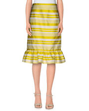NWT Red Valentino Jacquard Striped Skirt Yellow Color Size 42, 44, 46