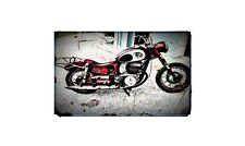 1954 Puch Sgs Bike Motorcycle A4 Photo Poster