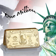 WR American US $1 Million Dollar Bill 24K Gold Bullion Art Bar Collectibles Gift