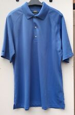 Greg Norman Play Dry Men's Polo Golf Shirt Azure Blue, Size XL