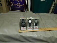 "1990s Jordache Brand {LOT of 3} ""Tuffy"" Wristwatches ~ Water-Shock Resist Alarm"