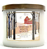 1 BATH & BODY WORKS WINTER WHITE WOODS SCENTED 3-WICK 14.5 LARGE FILLED CANDLE