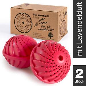 ProfessionalTree 2 Stück Waschball - mit Keramikperlen - Pink mit Lavendelgeruch