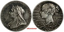 Great Britain Victoria Silver 1897 Medal Diamond Jubilee Toned Eimer-1817b / 769