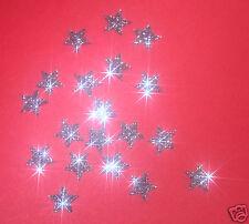 appliqué 30 étoiles 1cmFlex thermocollant GLITTER GRIS hotfix