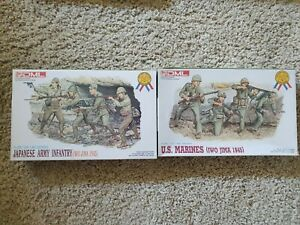 1/35 Dragon World War 2 In The Pacific Us Marines And Japanese Infantry...
