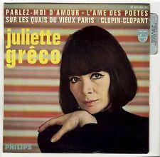 EP Juliette Gréco Parlez-moi d'amour 19667 comme NEUF