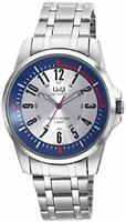 Q&Q CITIZEN QUARTZ CASUAL ANALOG STAINLESS STEEL BAND BIG NO# WATER RESISTANT