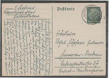 GANZSACHE Landpost Deutsches Reich Postkarte ALVENSLEBEN HANNOVER LINDEN gelaufe
