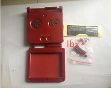 I Red Full Housing Shell Case Cover Part for Nintendo GBA SP Gameboy Advance SP