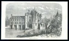 Chenonceaux castle...wood engraving...1864