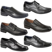 Mens Boys Lace Up School Work Office Formal Party Wedding Pumps Boots Shoes Size