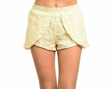 Lace Machine Washable Floral Shorts for Women