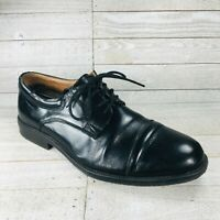 ROCKPORT Mens Black Leather Cap Toe Oxfords Shoes Size 8.5 M Waterproof