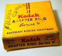 Kodak 19mm to Series V 5 Adapter Ring Holder Drop in Lens Filter