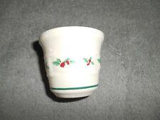 Longaberger Pottery Votive Cup - Holly Pattern