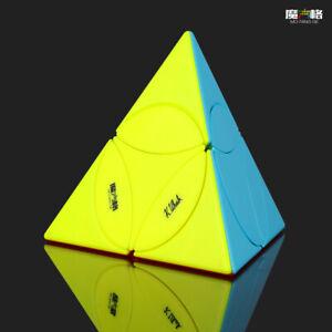 New QiYi Coin Tetrahedron MoFangGe Speed Magic Cube Puzzle Kids Toys Stickerless