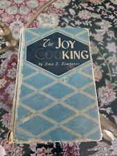 The Joy of Cooking 1946 Vintage Hardback Cookbook Irma S Rombauer