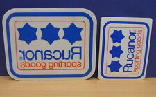 2x Sticker - Decal Rucanor sporting goods with org.back 80's (1982)