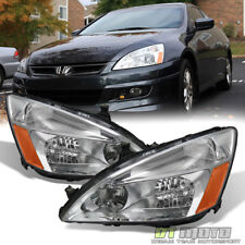 For 2003-2007 Honda Accord 2/4Dr Sedan Coupe Headlights Headlamps Left+Right