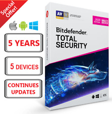 BITDEFENDER TOTAL SECURITY 2020 | 5 YEARS 5 DEVICES | FAST DELIVERY | DOWNLOAD