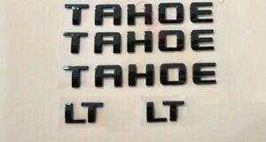 5PCS 2015-2020 Chevrolet Tahoe LT All Black  Emblems