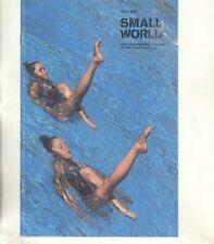 Fall 1978 VW Small World Magazine Brochure Police Rabbit Pompidou Center wz1837