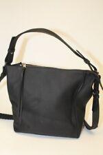ALLSAINTS NEW Black Leather Zip Top Satchel Crossbody Shoulder Bag & Pouch