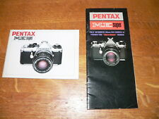 Original Asahi Pentax ME Super SLR Camera Instruction Manual & Sales Brochure