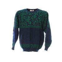 Strickpullover Gr. M Sweater Sweatshirt Pulli Langarm Vintage Muster