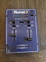 Used Numark Blue Dog DM900 DJ Mixer. NO POWER CORD INCLUDED.