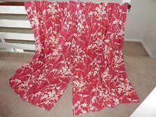 "LAURA ASHLEY Oriental Blossom Pair Of Curtains 71"" L x 63"" W"