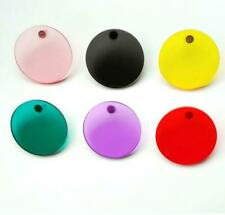 Women Transparent Geometric Circle Stud Acrylic Color Earrings Round Candy