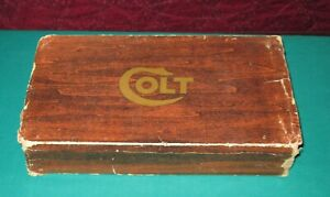Colt Revolver Factory Box Simulated Wood Case w/styrofoam insert