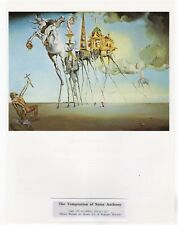 "SALVADOR DALI  Print Book Plate 9x12--""The Temptation of Saint Anthony"" 1946"
