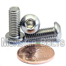 M6 x 16mm - Qty 10 - A2 Stainless Steel BUTTON HEAD Socket Cap Screws - ISO 7380