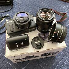 Canon EOS M 18.0MP Kit. Black (Kit w/ EF-M STM 22mm & 18-55m Flash EF Adapter