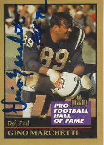 Gino Marchetti Baltimore Colts Autographed 1991 Enor Football Hall of Fame card