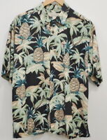 Island Republic Size large Men's Hawaiian Shirt Button Up Short Sleeve Pineapple