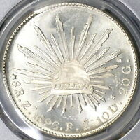 1896-Zs NGC MS 65 Mexico 8 Reales Mint State GEM Silver Coin (19090203C)
