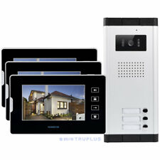 HOMSECUR 7'' Video Intercom with IR HD Camera Electric Lock Supported for 3Flats